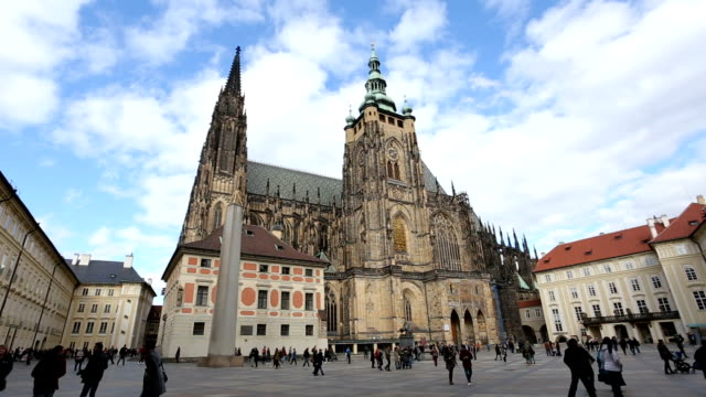 st.vitus cathedral in prague - cathedrals stock videos & royalty-free footage