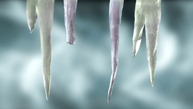 Stylised Icicles on wintery sky with Luma Matte 1 video