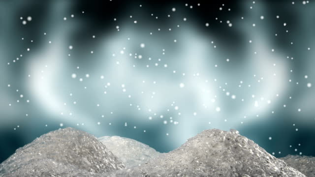 stylised miniature snowdrifts rising up scene 4 - соль минерал стоковые видео и кадры b-roll