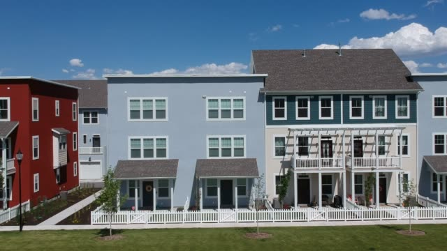 Stylish Townhomes stylish townhomes in West Jordan Utah. victorian architecture stock videos & royalty-free footage