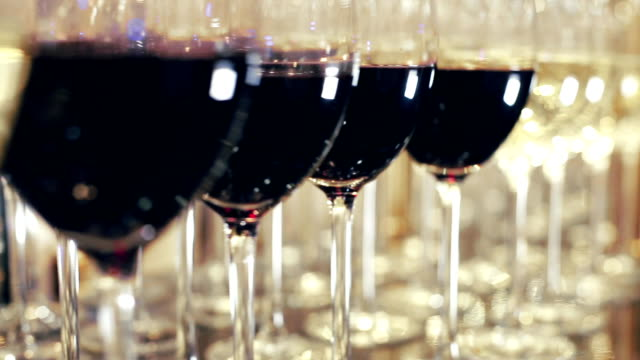 Stylish Wine Glasses Footage of stylish wine glasses for wine tasting in fine dining winery with wine on table. Australian tourism in Barossa, Clare, Hunter, Yarra, Valley. winetasting stock videos & royalty-free footage