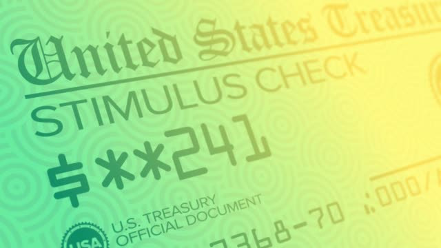 Stylized Background of Government Stimulus Check