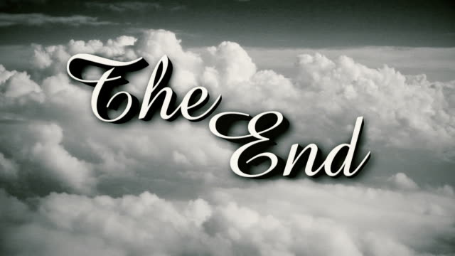 Stylized The End Old Movie End Page