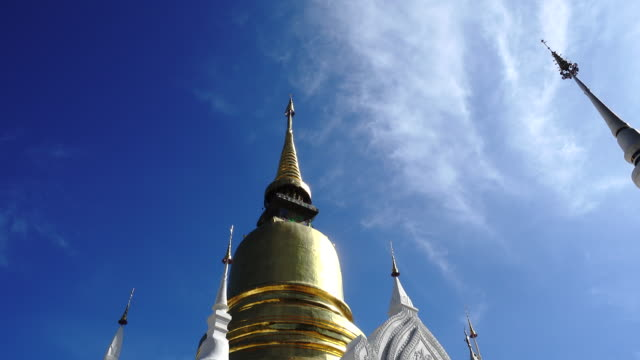 4K Suan Dok Buddhist Temple in Chiang Mai Thailand video