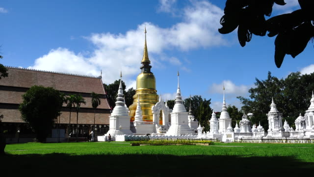 4K Suan Dok Buddhist Temple in Chiang Mai Thailand. video