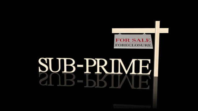 sub prime morgage crises + matte - foreclosure stock videos & royalty-free footage