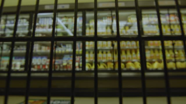 Subjective POV from inside cart as it moves around supermarket video