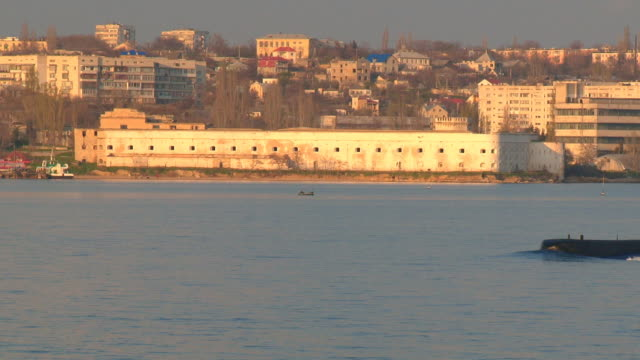 submarine and sea fort video