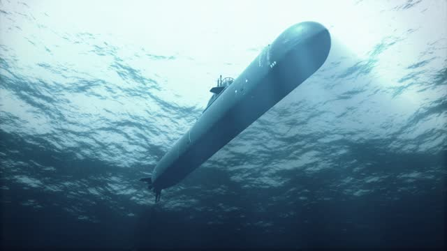 Submarine Passing Overhead in Shallow Water video