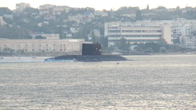 submarine returns to base video