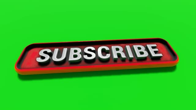 subscribe button letters drop on the red button - newsletter video stock e b–roll