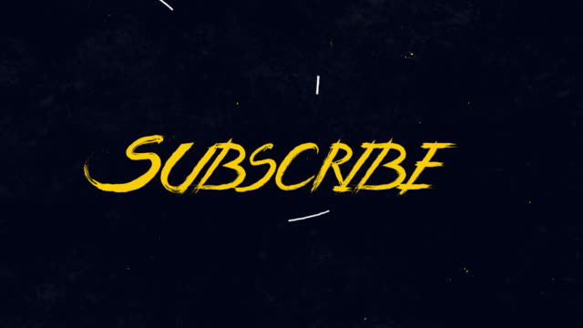 subscribe to channel, blog. social media background, subscribe word animation motion graphic video with alpha channel, transparent background use for website banner,advertising,marketing - newsletter video stock e b–roll
