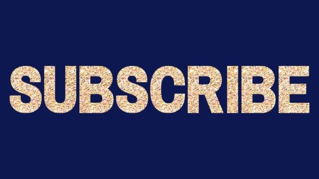 subscription social media subscribe follow - newsletter video stock e b–roll