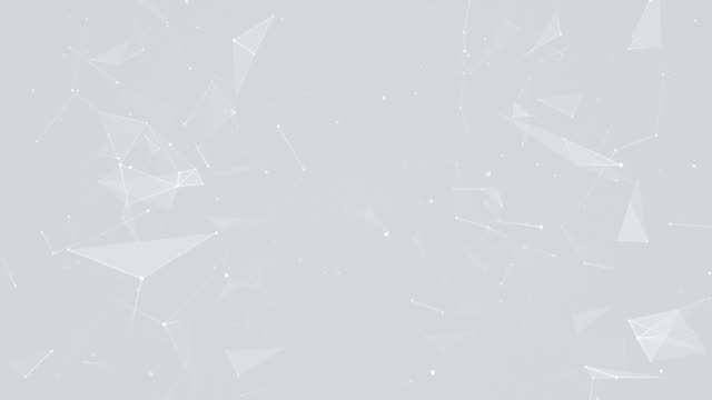 vídeos y material grabado en eventos de stock de sutiles partículas del plexo de plata sobre fondo gris - gris