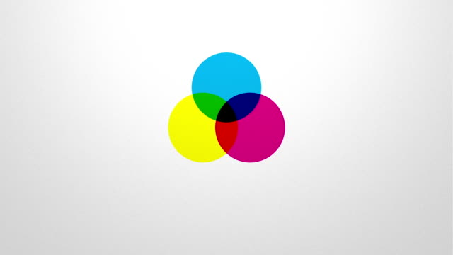 subtractive color mixing in CMYK color space video