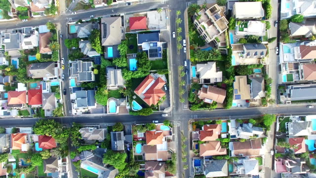 Suburb life from a bird's eye view Aerial drone footage of Cape Town, South Africa cape town stock videos & royalty-free footage