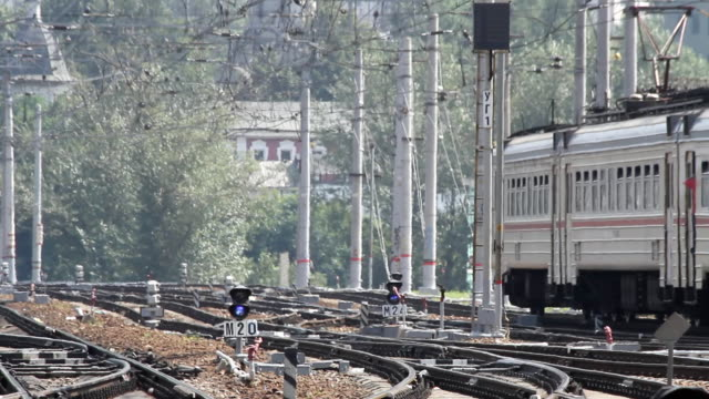 Russia.Moscow - 2013: Suburban Electric Train video
