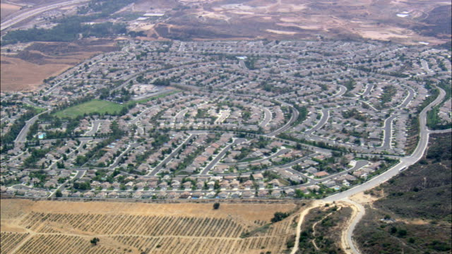 Suburban Estate In Horsethief Canyon  - Aerial View - California, Riverside County, United States video