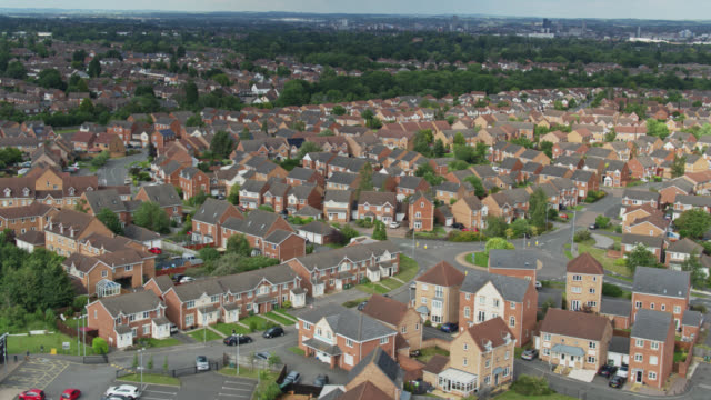 Paysage suburbain de l'air - Vidéo
