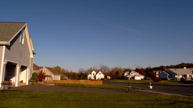 Suburban neighborhood sunset timelapse HD video