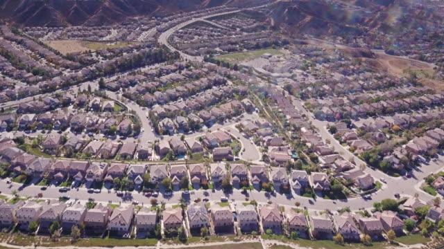 Suburban Sprawl in California - Aerial View video
