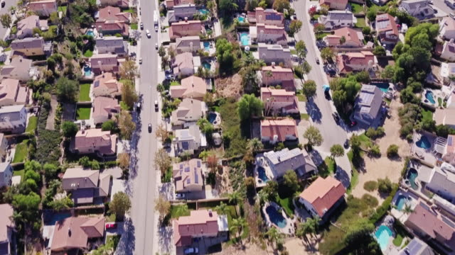 Suburban Streets - Aerial View video