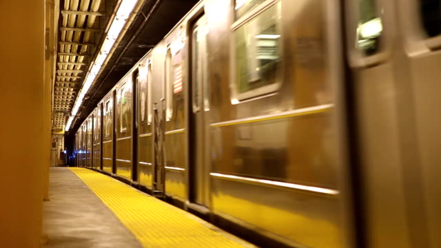 Subway Arriving at Station in New York City video