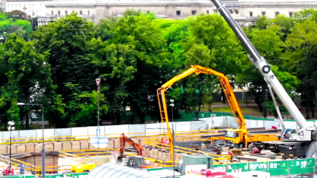 Subway construction site http://smdesign.eu/istock/is-car.jpg crane construction machinery stock videos & royalty-free footage