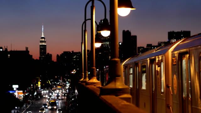 地下鉄夕暮れ cinemagraph - 米国旅行点の映像素材/bロール