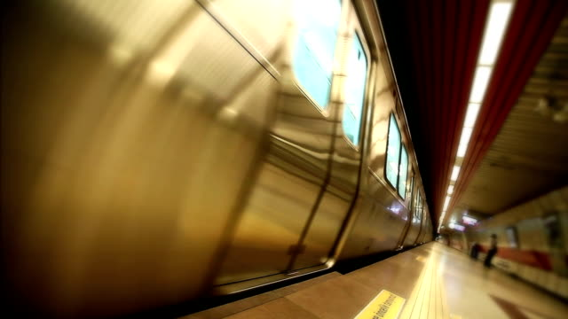Subway in motion HD video