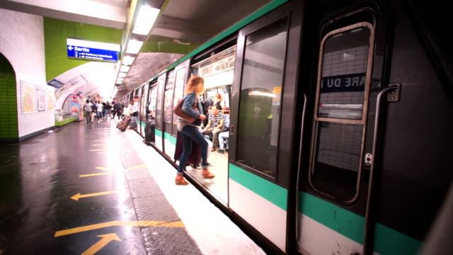 Subway, Metro in Paris, France Subway, Metro in Paris, France summer 2016 subway train stock videos & royalty-free footage
