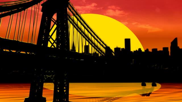 Subway Sunset Bridge video
