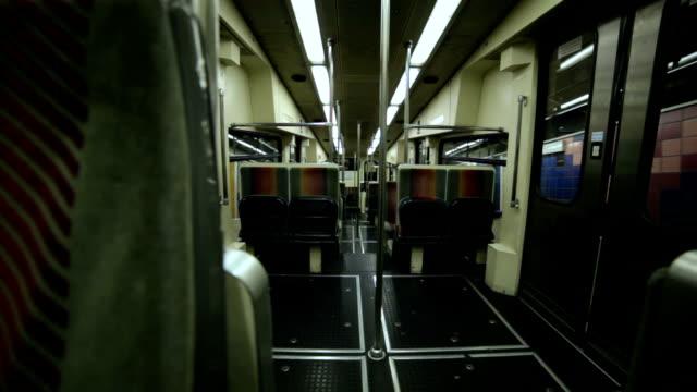 Subway train inside video