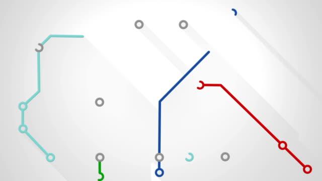 subway transport scheme animation video