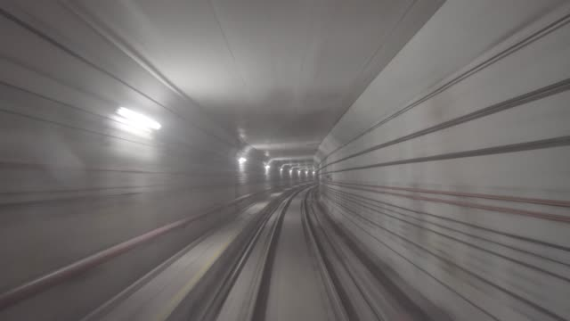 subway tunnel in singapore - milan railway video stock e b–roll