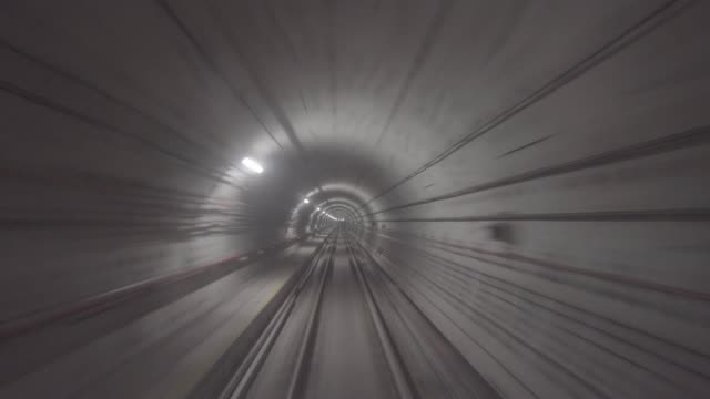 Subway tunnel in Singapore Subway tunnel in Singapore subway station stock videos & royalty-free footage