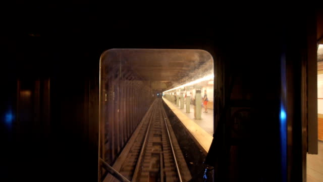 Subway POV A unique perspective of looking out the front of a New York City subway train as it moves through the tunnel. underground stock videos & royalty-free footage