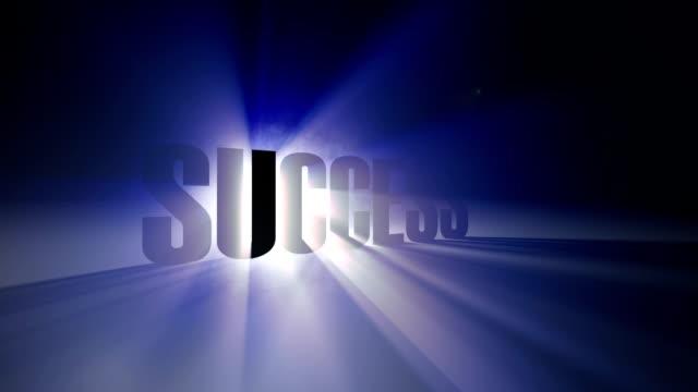 Success animation video