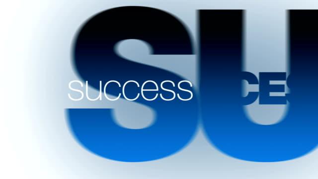 Success concepts animation video