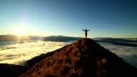 istock Success on mountain summit 614880194