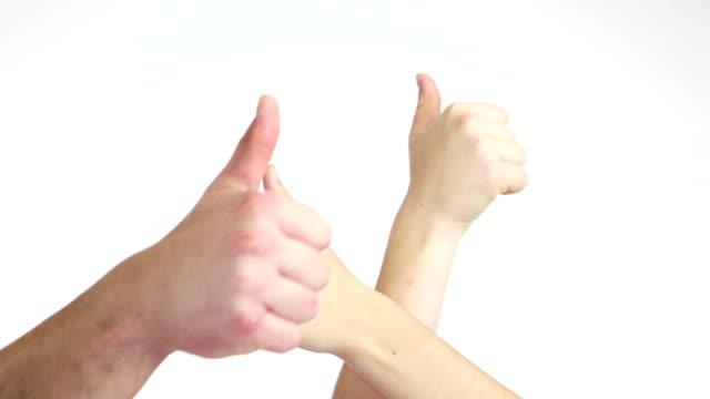 успех - thumbs up стоковые видео и кадры b-roll