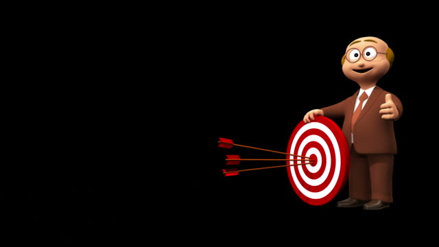 Successful Business Man And Bullseye - Alpha