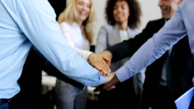 Successful Business People Group Join Hands Together, Mix Race Team Of Professionals Happy Smiling In Modern Office Teamwork Concept Successful Business People Group Join Hands Together, Mix Race Team Of Professionals Happy Smiling In Modern Office Teamwork Concept Slow Motion 60 heap stock videos & royalty-free footage