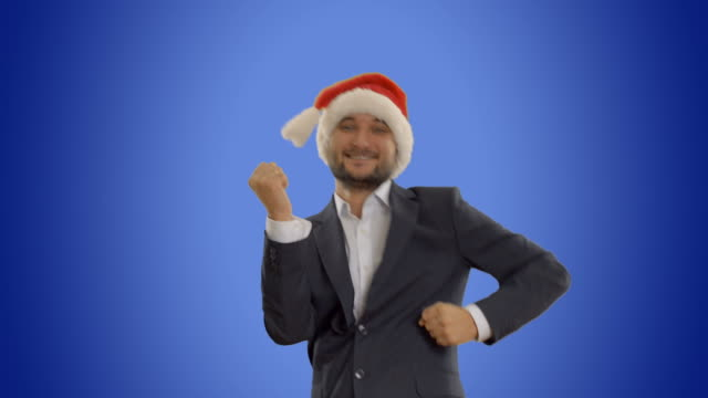 successful man dancing and calls to join him video