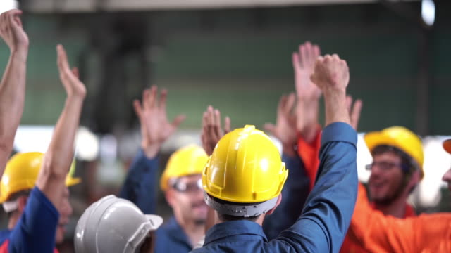 Successful project with technical worker at factory Successful project with technical worker at factory occupational safety and health stock videos & royalty-free footage
