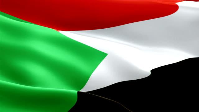sudan waving flag. national 3d sudanese flag waving. sign of sudan seamless loop animation. sudanese flag hd resolution background. sudan flag closeup 1080p full hd video for presentation - kiss filmów i materiałów b-roll