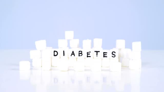 Sugar cubes spelling out diabetes video