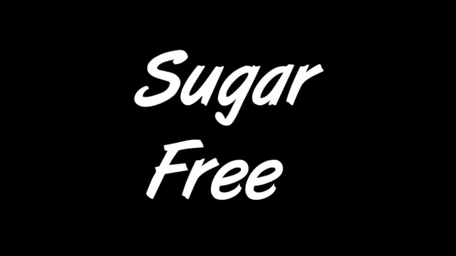 Sugar Free Sugar cubes appearing and exploding followed by words Sugar Free block shape stock videos & royalty-free footage