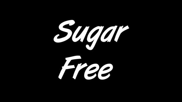 zucchero gratis - a forma di blocco video stock e b–roll