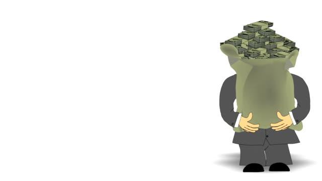Suited Man & Money Bag video